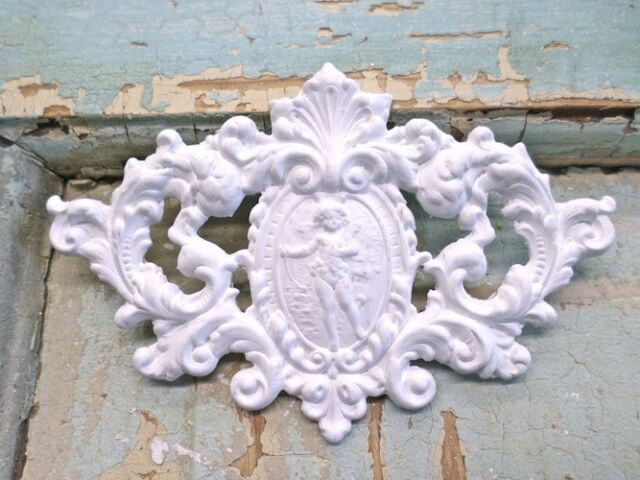 SHABBY & CHIC  FURNITURE APPLIQUES  CHERUB / FLORAL  EBAY'S LARGEST DEALER!