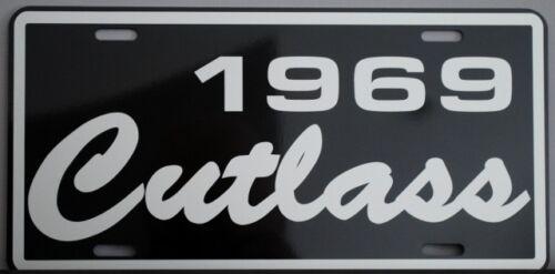 1969 69 OLDS OLDSMOBILE CUTLASS METAL LICENSE PLATE F-85 S 442 350 400 455 HURST