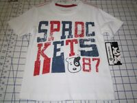 Sprockets 87 Red White & Blue. Toddler Size 3t 100% Cotton