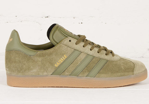 11.5 NEW adidas GAZELLE Suede Shoes Olive Cargo BB5265 superstar campus samba a1