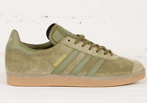 Image is loading NEW-adidas-GAZELLE-Suede-Shoes-Olive-Cargo-BB5265-