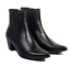 Mens-Chelsea-Boots-Leather-Formal-Pointed-Toe-Block-Mid-Heel-Shoes-Ankle-Booties thumbnail 2