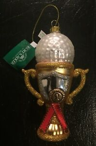 "Kurt S. Adler 4.25"" Noble Gems Glass Golf Ball Trophy ..."