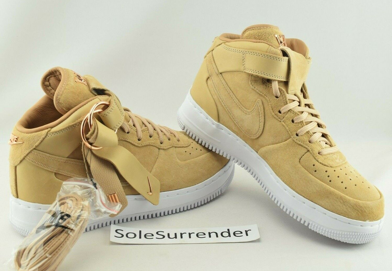SIZE CHOOSE Mid 1 Force Air Victor x Nike Cruz Wheat Tan