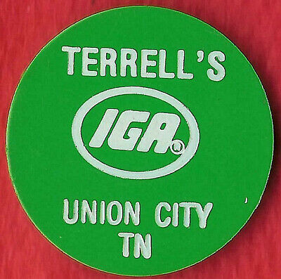 FOOD STAMP COUPON TOKEN TERRELL/'S IGA UNION CITY TN 5 CENT STORE SCRIP