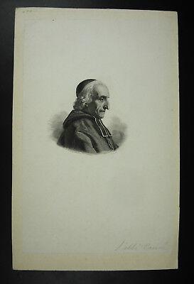 Preciso Antique Print L'abbé Tourné C1836 Lithographie Originale Xixe Costo Moderado