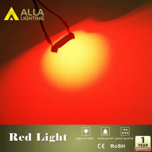 Alla Lighting Map,Dome,Courtesy Light Bulb Red Interior Overhead Reading Lamp,2x