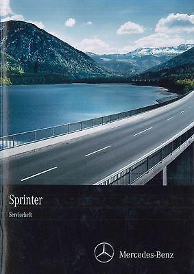 Ehrlichkeit 2014 Mercede-benz Sprinter Serviceheft Scheckheft Service Manual Deutsch