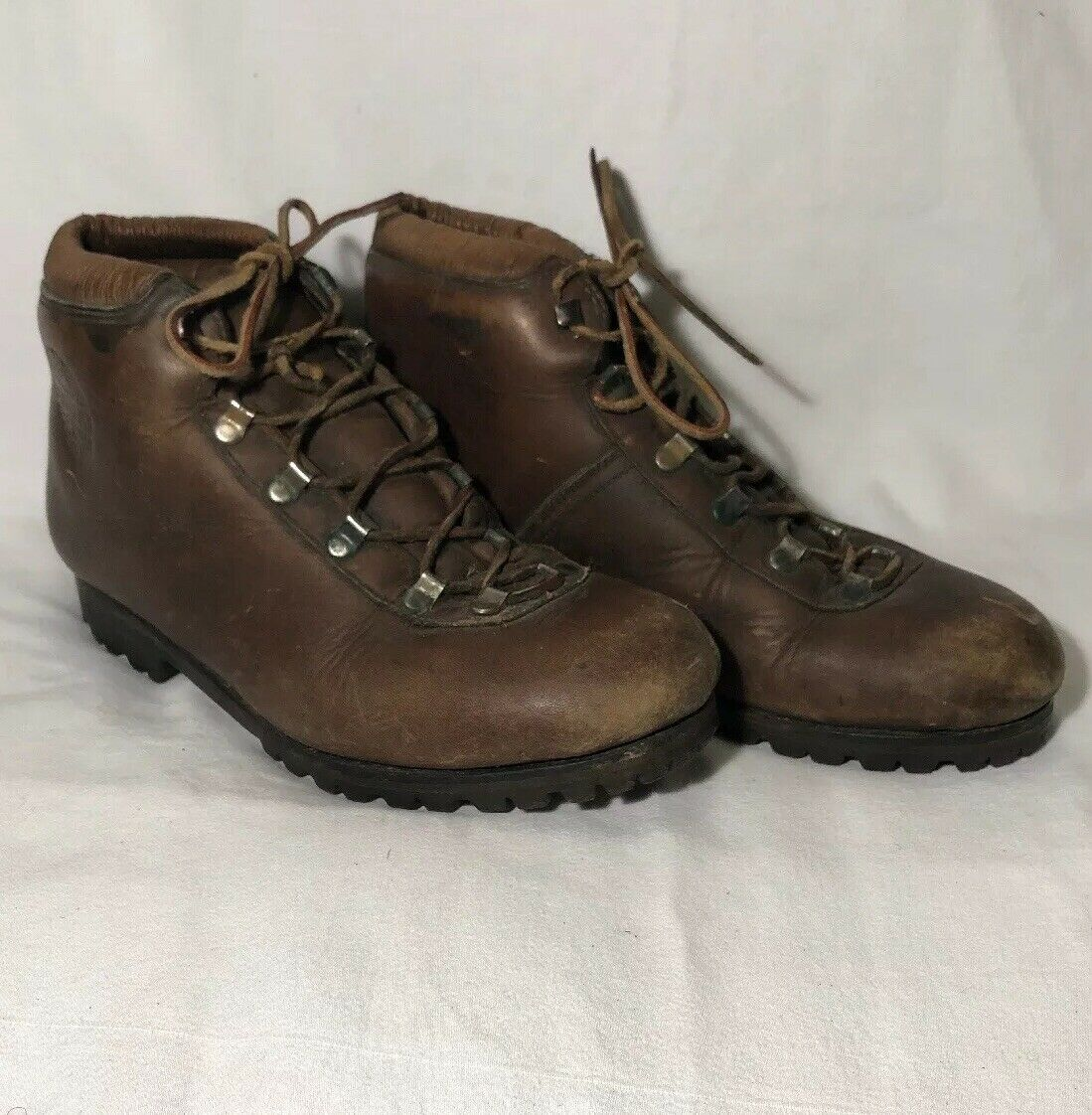 Mens VTG DUNHAM'S TYROLEANS LEATHER HIKING stivali  Made In   Dimensione  7