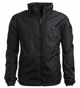 Details zu Polo Ralph Lauren Herren Windbreaker Jacke Übergangsjacke schwarz und dunkelblau