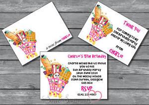 Detalles De Shopkins Personalizado Fiesta De Cumpleaños Invitar Gracias Tarjeta Note12 Sobres Ver Título Original