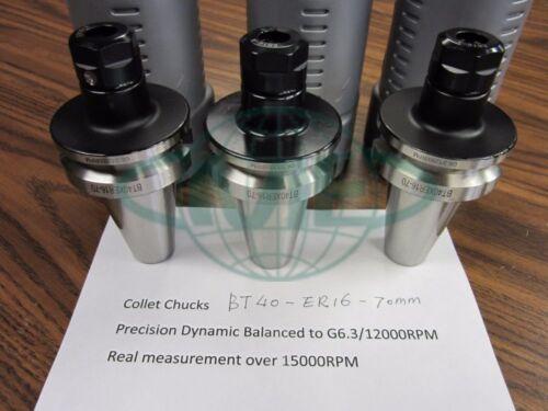3pcs BT40-ER16 COLLET CHUCKS for $139.00 balanced to G6.3//15000RPM Tool Holder