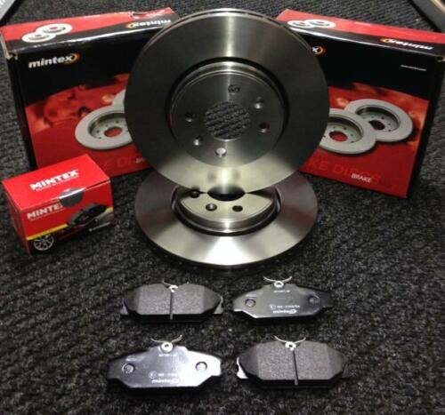 RENAULT CLIO 2.0 16V SPORT 172 CUP FRONT MINTEX BRAKE DISCS AND BRAKE PADS