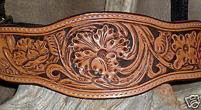 Gorgeous US Made HAND CARVED -3-  TOOLING, FLOWER TOOLING,  Bronc Halter. G&E d38548