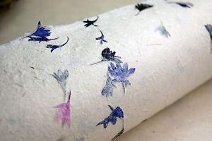 Handmade paper 20 x 30 pressed flower set of 3 natural blue purple image is loading handmade paper 20 034 x 30 034 pressed mightylinksfo