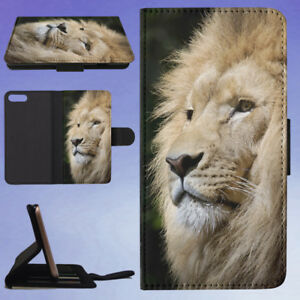 ANIMAL-AFRICA-ZOO-LION-FLIP-WALLET-CASE-FOR-APPLE-IPHONE-PHONES
