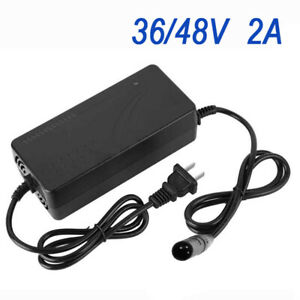36//48V 2A Smart Charger Quick Charging For Electric E Bike Bicycle Battery