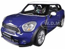 MINI COOPER S PACEMAN BLUE 1:24 DIECAST CAR MODEL BY WELLY 24050