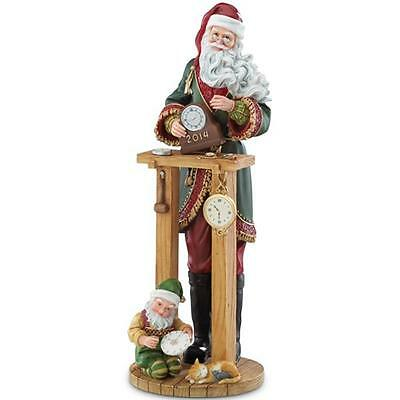 "LENOX ""2014 COUNTDOWN TO CHRISTMAS CLOCK SHOP SANTA FIGURINE W/COA""  NIB"