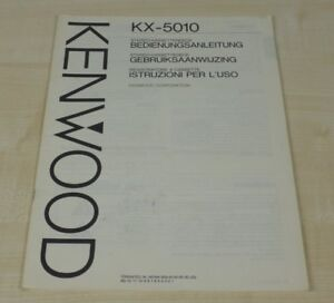 Kenwood KX-5010 original Bedienungsanleitung (mehrsprachig, auch in Deutsch) (3)