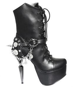 9ac02f83509b Hades ENVY Black Lace Up Platform Ankle Boots 5
