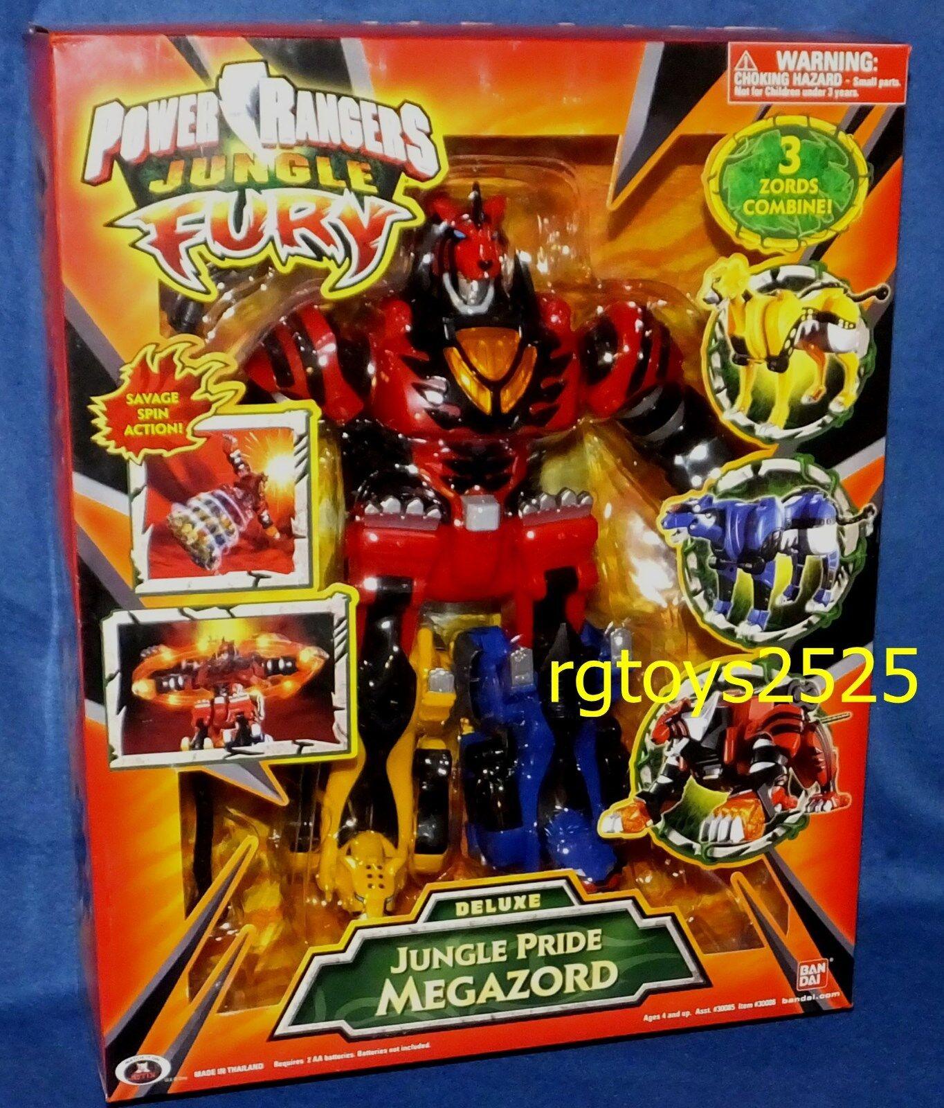Power Rangers Jungle Fury Deluxe Jungle Pride Megazord New Factory förseglad 2007