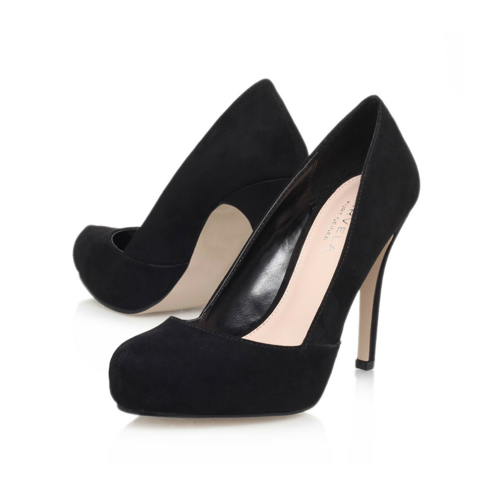 CARVELA STILETTO SHOES .. STUB TOE   BLACK     UK 4   EU 37 .. CLOSING DOWN SALE