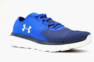 Under-Armour-Speedform-Fortis-2-Men-s-Running-Shoes-Blue-Black-Size-7-5-NEW