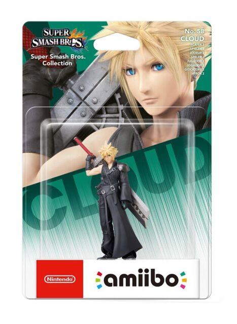 Nintendo Switch Amiibo Super Smash Bros. - Cloud (Player 2) Figure BRAND NEW