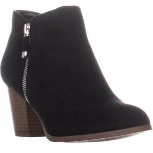 Style & Co. Womens Masrinaa Almond Toe Ankle Fashion, Black Suede, Size 8.5 Jgm7