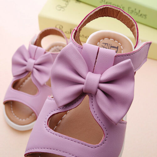 Summer Kid Girl Children Sandals Bowknot Girls Flat Pricness Beach Party Shoes I