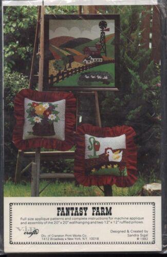 "VIP Crafts P-507 Sewing Pattern /""Fantasy Farm/"" Applique Wall Hanging~Pillows NIP"