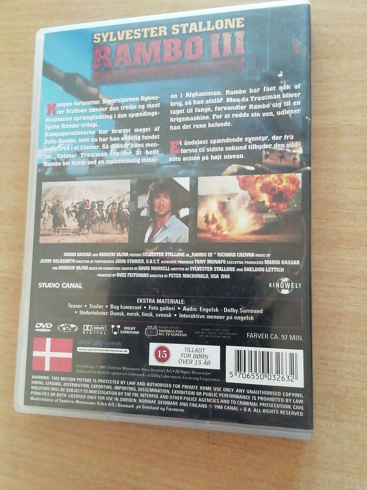 Rambo 3, DVD, andet