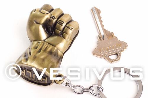 BRONZE KEYCHAIN Key Accessory Jewelry Nerd Geek Superhero Marvel HULK Fist