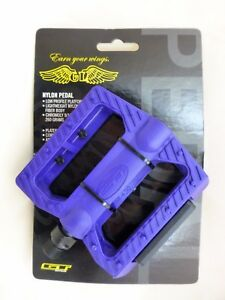 "New Pair - Purple - GT Universal Nylon BMX Bike Pedal Set 9/16"" Chromoly Spindle"