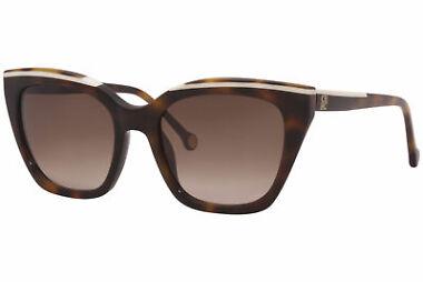 Carolina Herrera Tortoise Cat Eye Women's Sunglasses with Gradient Lens