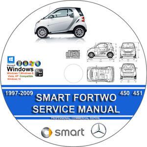 smart fortwo 450 451 service repair manual 1997 2012 on cd 01 02 03 rh ebay com smart fortwo 2005 service manual smart fortwo 2005 service manual