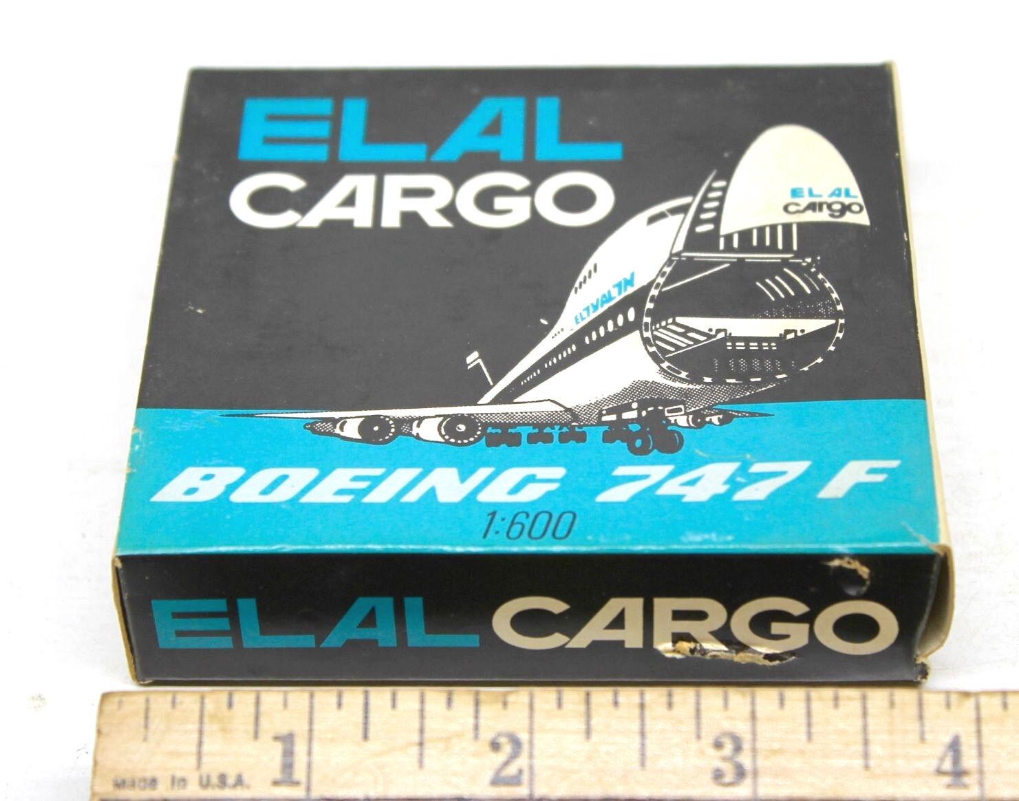 Vintage Schabak 1 600 Boeing 747F Elal Elal Elal Cargo Jet Die Cast réplica Modelo  901 22 a4e519