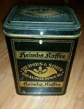 Heimbs kaffe Tante Emma Antik Cabinetdose Blechdose gross shabby Art deco