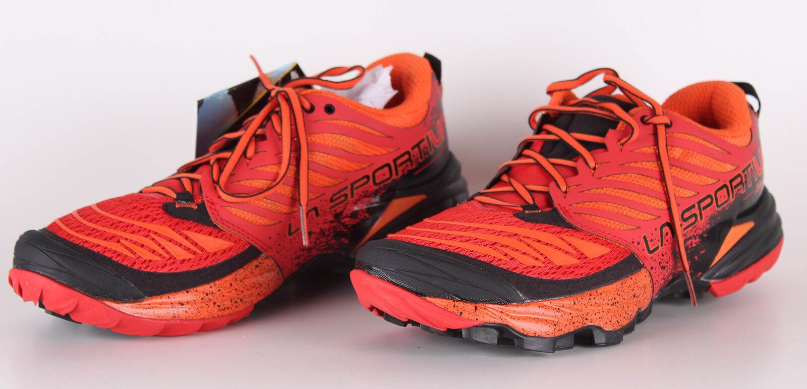 La Sportiva Akasha Herren Sneakers Trailschuhe Laufschuhe Rot (Flame), 41.5