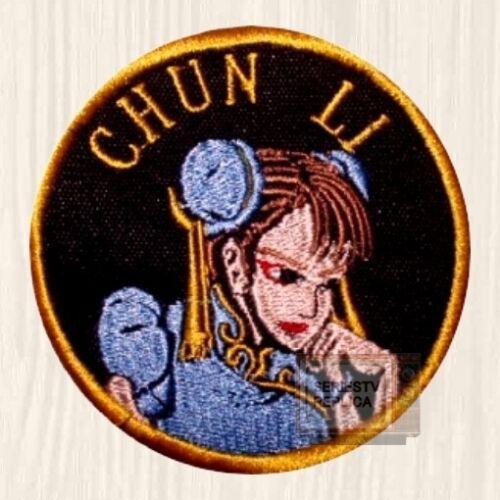 Street Fighter 2 Patches Set Capcom Ryu Ken Blanka Chun Li Guile Embroidered