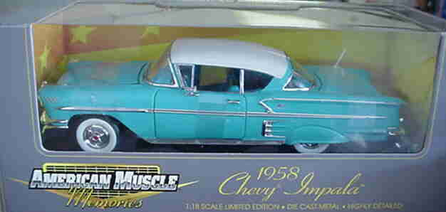 1958 Chevrolet Impala Turquoise 1 18 ertl american muscle 32290