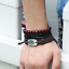 Fashion-Men-Women-Handmade-Genuine-Leather-Bracelet-Braided-Bangle-Wristband-Set miniatura 23