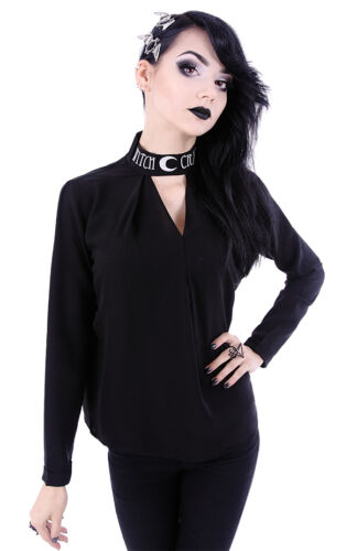 Restyle Hippie Moon Bluse Shirt Blouse Gothic Witchy Mond Oversized Nugoth WGT