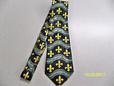 Fleur de lis Burgundy gold NFL football New Orleans Saints men/'s necktie #8