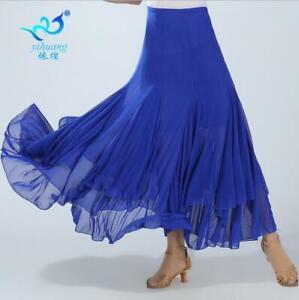 Latin-Salsa-Flamenco-Ballroom-Dance-Dress-Modern-Tango-Waltz-Dancewear-Skirts