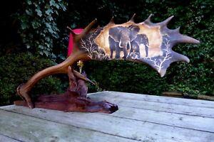 FALLOW-DEER-ANTLER-LAMP-ELEPHANTS-DESIGN-UNIQUE-GIFT-HANDMADE-ART-CHRISTMAS-GIFT