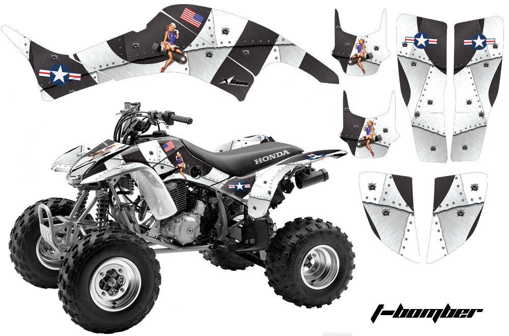 Atv Grafik Kit Aufkleber Quad Aufkleber für Honda Trx400ex 1999-2007 Tbomber W