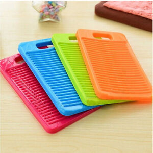 Plastic-Thicken-Antislip-Washboard-Washing-Board-Kids-Shirts-Clean-Laundry-HC