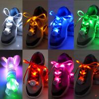 LED Shoelaces Flash Light Up Glow Stick Strap Shoe Laces Disco RGB Party Disco